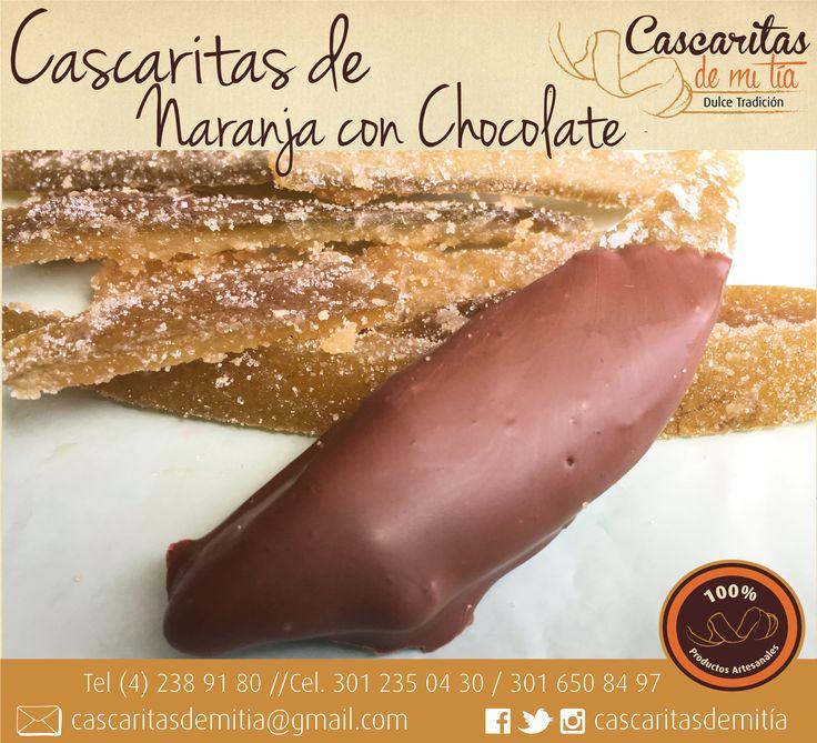 Cascaritas de Naranja con Chocolate