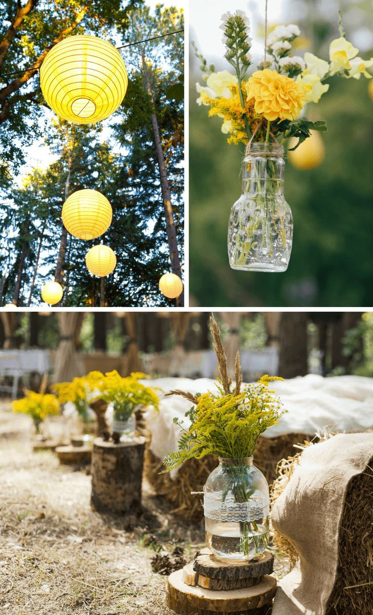 Wedding in yellow: 40 stylish and creative decoration ideas