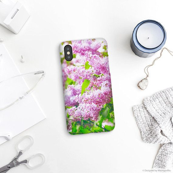 Lilac flowers phone case, Floral phone cover, iPhone 8 case, Galaxy S6 Edge, S7 Edge, Samsung S9, Google pixel XL, Mobile phone case. UL028