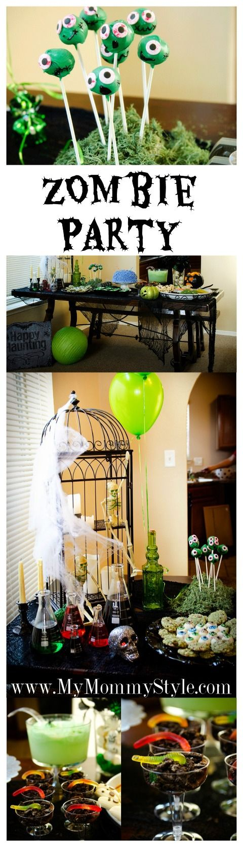 This zombie party is made to be enjoyed by all ages! Zombies are all the rage now with games like Plants vs Zombies and The Walking Dead! This will give you all the ideas you need to throw a killer party that is kid friendly too! :)