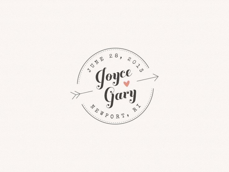 Best 25 Wedding logo design ideas on Pinterest  Wedding