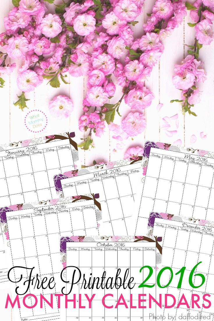 Year Calendar Pretty : Best images about printable calendars planners to do