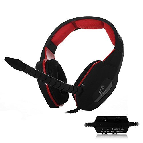 HUHD® Wired Gaming Headset/Headphones HG-939GV for PS4, PS3, and Xbox 360, PC, Noise Cancelling, Detachable Microphone