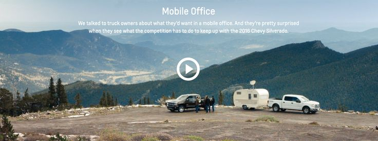 Silverado Films: Best Truck For Any Job | Chevrolet - why wouldn't you want to work out of this office?