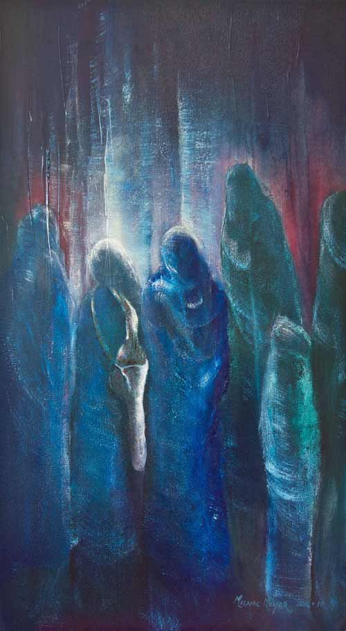 """""""Singing Musicians Converse"""" by Melanie Meyer from her Emergence Art Gallery"""