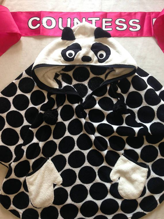 Panda top slouch lounge wear dress up hoody black and white