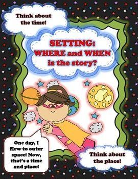 SUPER STORY ELEMENTS: A NARRATIVE ELEMENTS BOOK PROJECT AND PRINTABLE POSTERS - TeachersPayTeachers.com