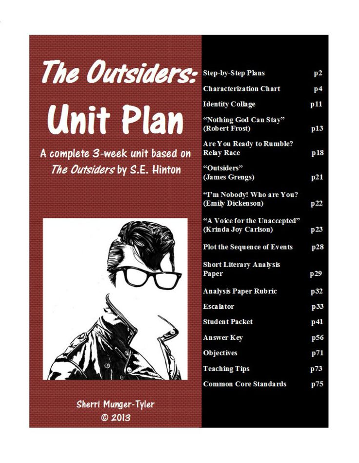 """This is a complete 3-week unit. I have used these plans successfully to teach """"The Outsiders"""" in both 7th and 8th grades, as well as Summer School and Reading AIS."""