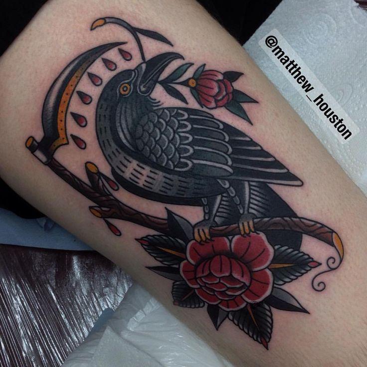 Electric Tattoos | illustratedgentleman:   Big old bird on Mike who...