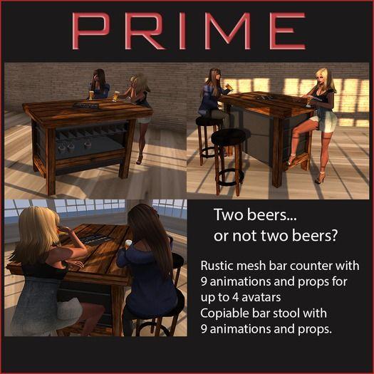 Rustic bar set by PRIME