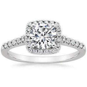 18K White Gold Sonora Halo Diamond Ring