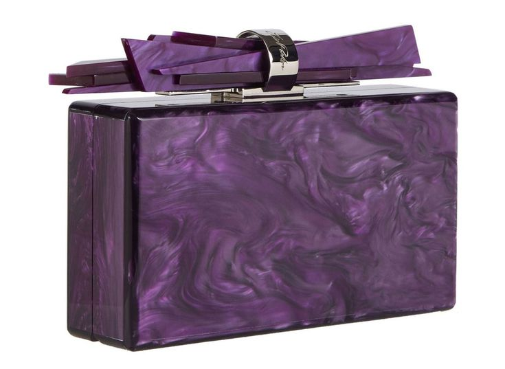 edie parker, purple, acrylic, clutch
