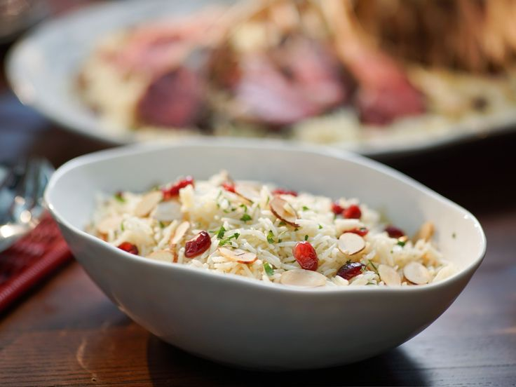 Almond Cranberry Rice Pilaf recipe from Valerie Bertinelli via Food Network