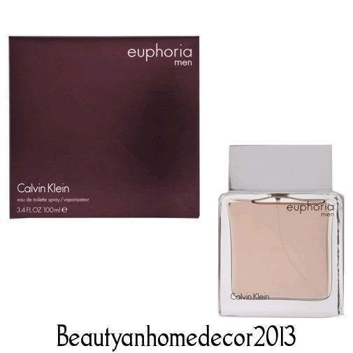 Euphoria by Calvin Klein 3.4 oz / 100 ml EDT Cologne Spray for Men New in Box #CalvinKlein