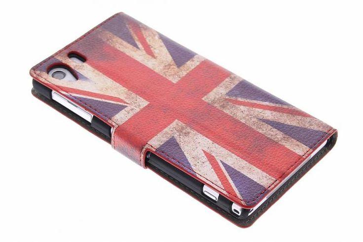 Vintage Britse vlag booktype hoes voor de Sony Xperia Z1
