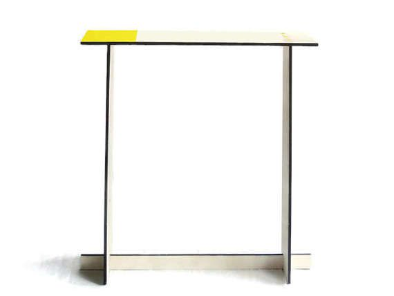 Laser cut wood custom console tableeco furniture homecustom