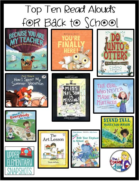 Top Ten Read Alouds for Back to School