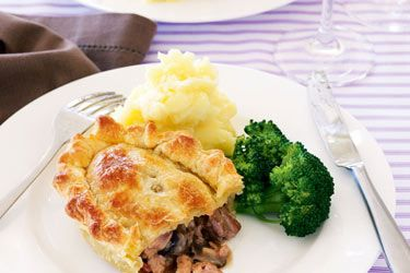 Chicken, bacon and mushroom pies