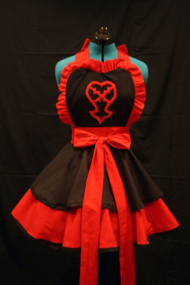White pinafore apron costume -  Kingdom Hearts Heartless Apron Very Well Done I Don T Tend To Wear Aprons But I Might Wear This Just As A Cute Fashion Xd