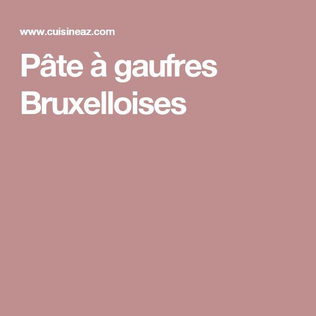 Pâte à gaufres Bruxelloises