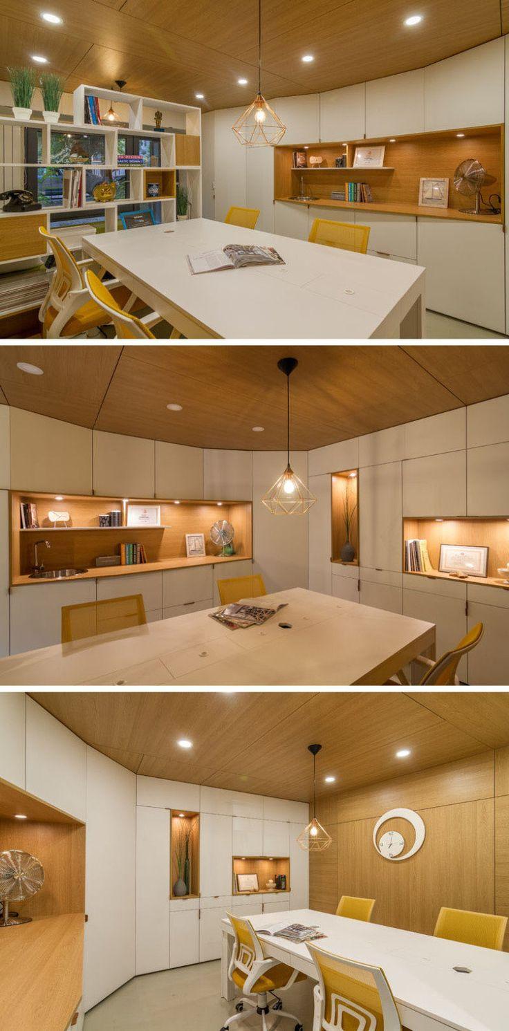 Antes e depois: garagem de 22m² foi transformada em escritório