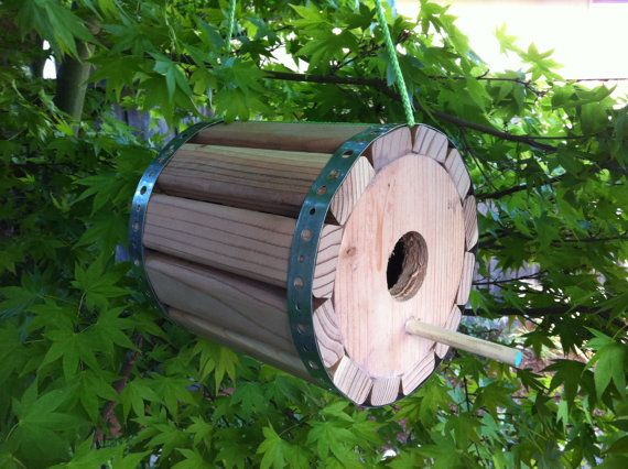 Modern Birdhouse by landongellert on Etsy, $75.00