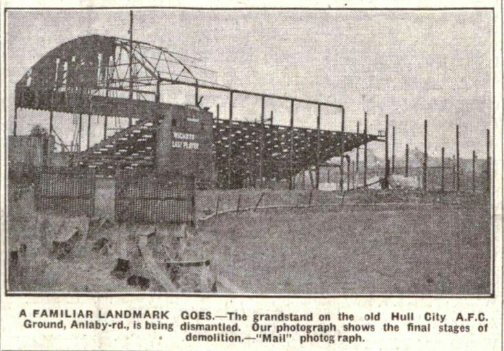 Old Anlaby Road ground being demolished