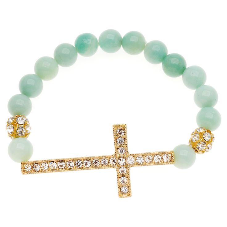 Tutorial - How to: Amazonite and Crystal Cross Bracelet | Beadaholique