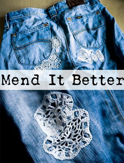 Got a hole in your fave jeans? Fill it in with a super cute crocheted patch!