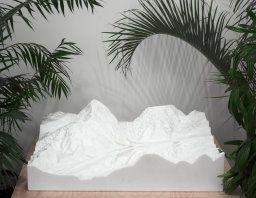closed form - Yutaka Sone [ Japanese, born 1965],   Highway Junction 14-5, 2002.   Marble, edition three of three,  33.97 x 113.03 x 123.51 cm (13 3/8 x 44 1/2 x 48 5/8 in.).