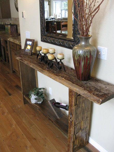 25 best ideas about rustic console tables on pinterest farmhouse table decor diy furniture - How to make rustic wood furniture ...