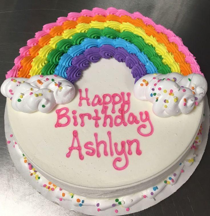 Round Birthday Cakes Rainbow Dq Ice Cream Cake Cake Ideas Cake Birthday Cake Cak…  – Special Occasion Cakes