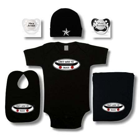 Skate Baby Gift Set - Cool Baby Gifts Sets - Crazy Baby Clothing
