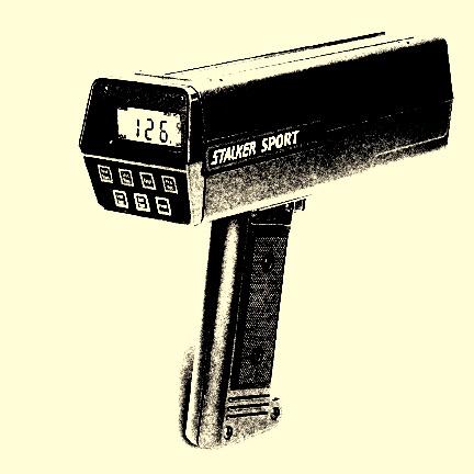 Radar gun.