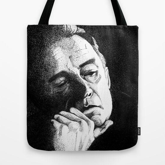 Johnny Cash II Pointillism Tote Bag