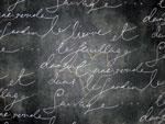 Waverly Garden Gate Pen Pal Blackbird French Script   On Hancocks of Paducah