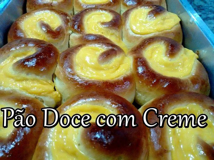 Pão Doce com Creme igual ao de Padaria (por Fernando Couto)