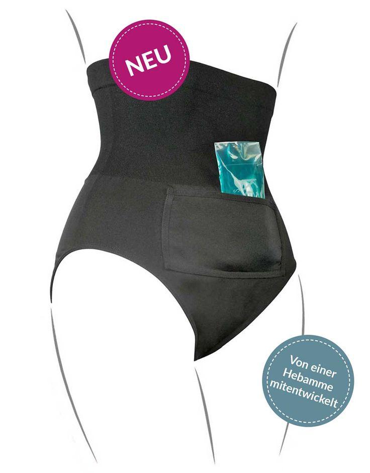 Der Kaiserschlüpfer ist die Innovation für Frauen nach einem Kaiserschnitt. Er schützt und kühlt die Naht.