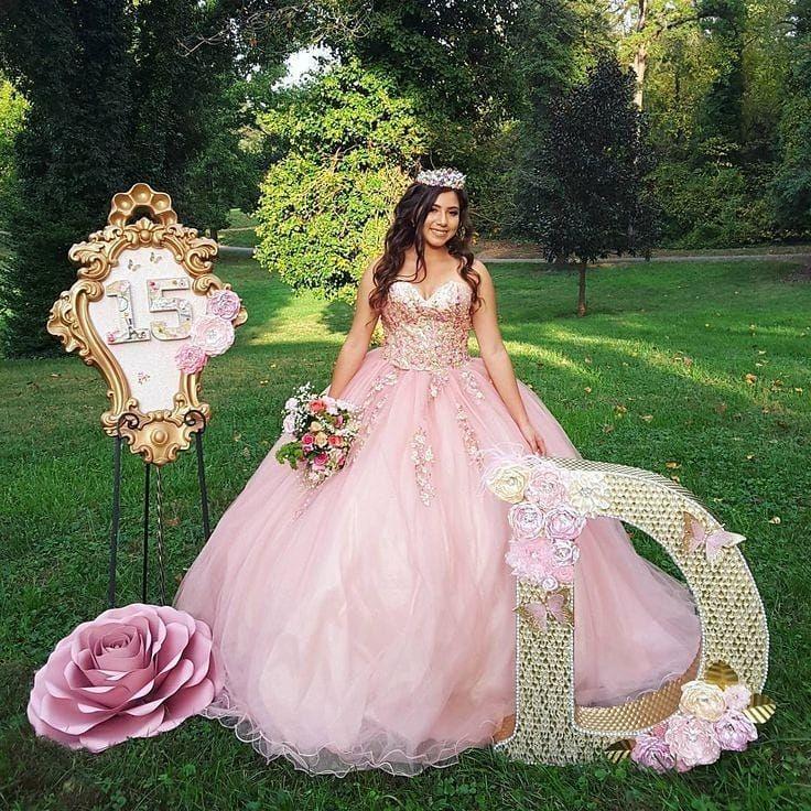 Vestido Rosa Pastel Para Tus 15 15años