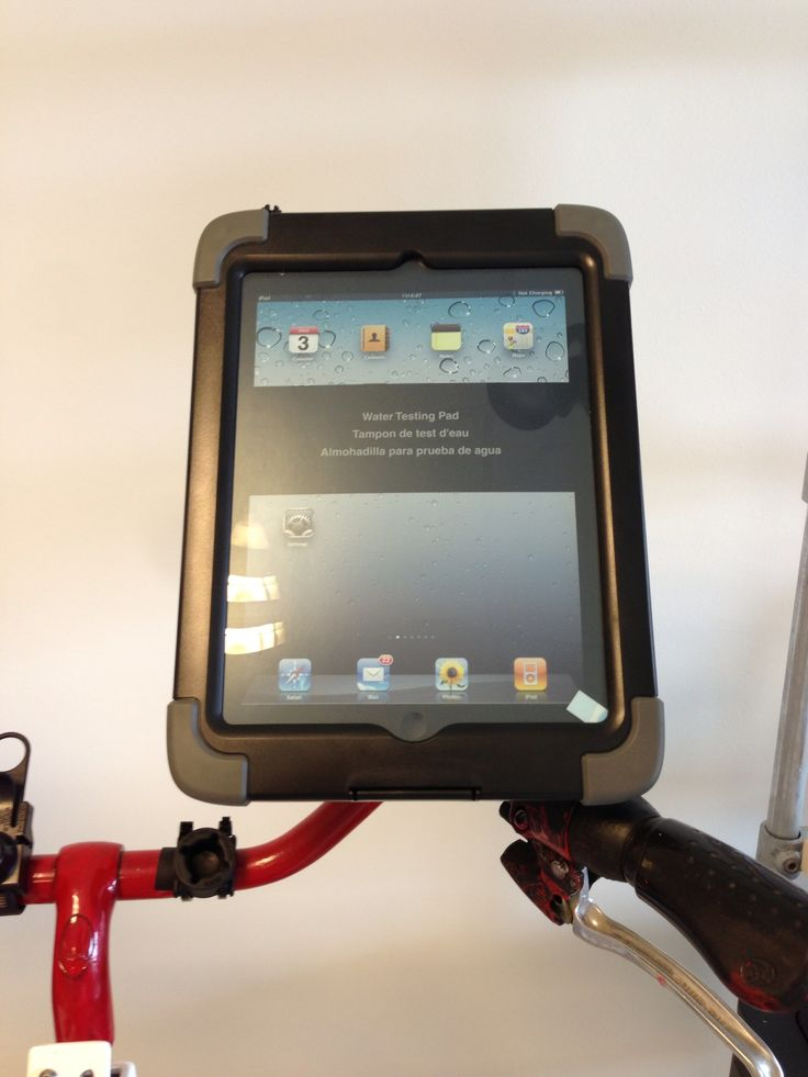 Action pro joy factory waterproof ipad case mounted with #rammount on bike.
