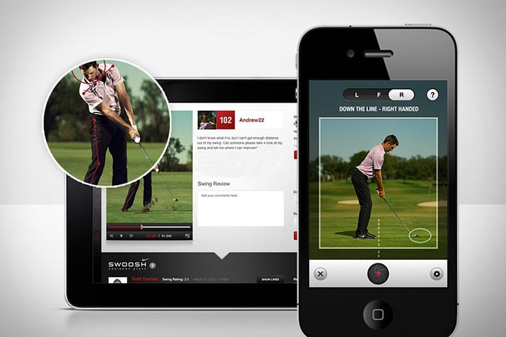 Nike Golf 360º App - interface looks more intuitive than other golf apps