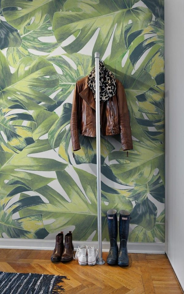 Jacket, scarf, footwear...oh and the wallpaper, too!