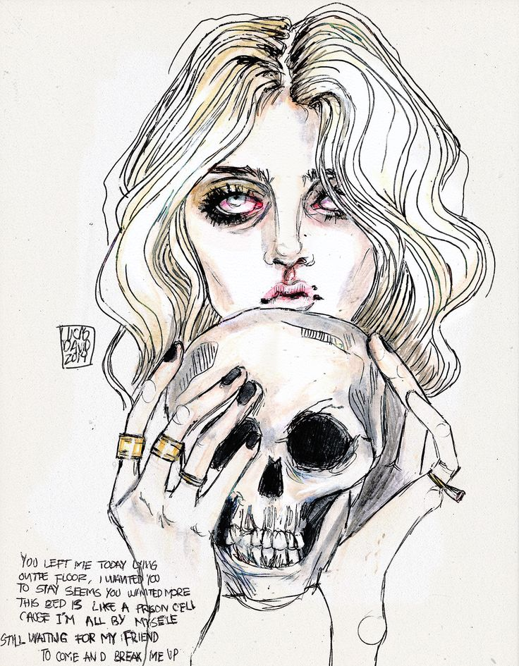 """Waiting for a friend"" by the pretty reckless // taylor momsen art by lucas david"