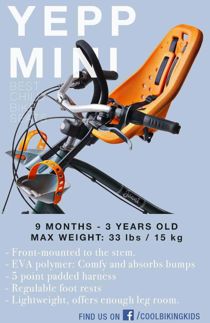 YEPP MINI child bike seat review by Cool Biking Kids - www.coolbikingkids.com