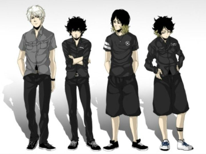 Toru Yamashita, Takahiro Morita, Ryota Kohama, Tomoya Kanki | One Ok Rock Anime Style