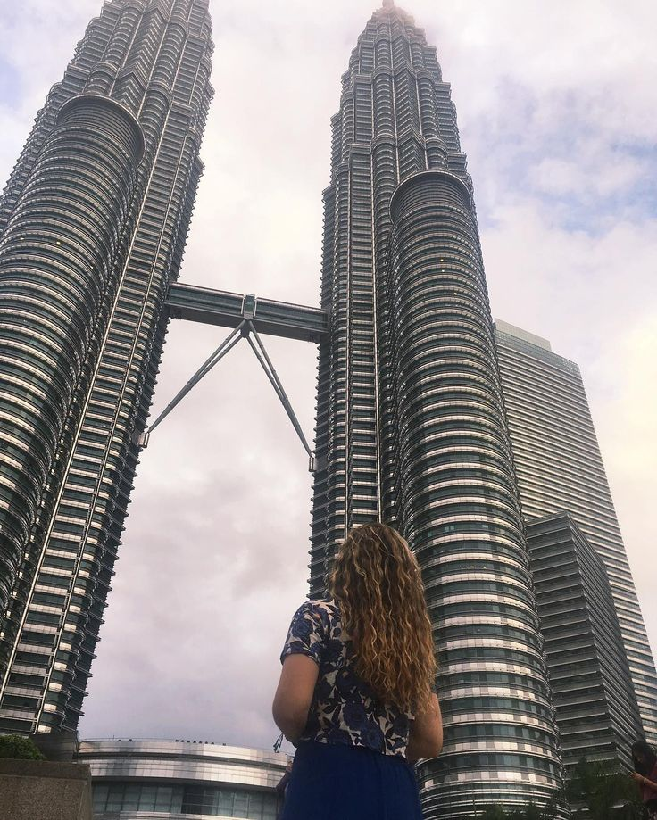 took a break from the beaches to visit the tallest twin towers in the world  next stop: Bali!! Any suggestions?!  PETRONAS twin towers, kuala lumpur, malaysia #Regram via @ciaofeliciatravel