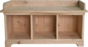 Bench With Cubby Storage Plans