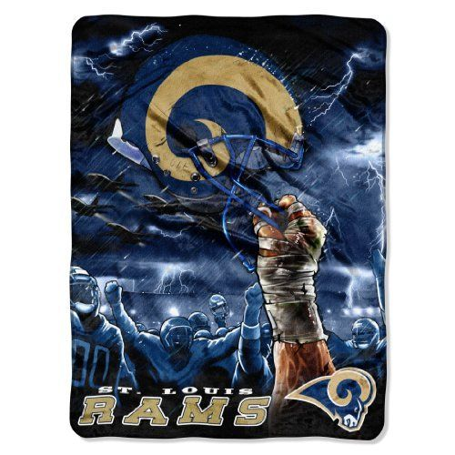 NFL St. Louis Rams 60-Inch-by-80-Inch Plush Rachel Blanket, Sky Helmet Design by Northwest. Save 8 Off!. $30.47. Measuring 60-inches-by-80-inches this luxurious blanket by The Northwest Company will be your go-to on the bed or in the living room!  Bold attractive designs are officially licensed by the NFL.  Made of 100% polyester this soft and thick blanket is sure to keep you warm on the coldest of days.  Team color blanket with team trimming around edges.