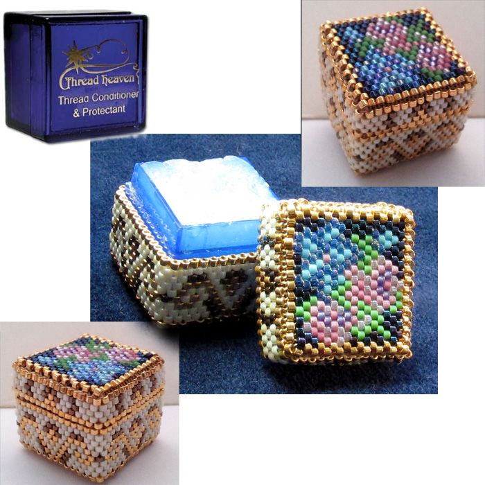 Beaded Cover for Thread Heaven Box Pattern | Bead-Patterns.com