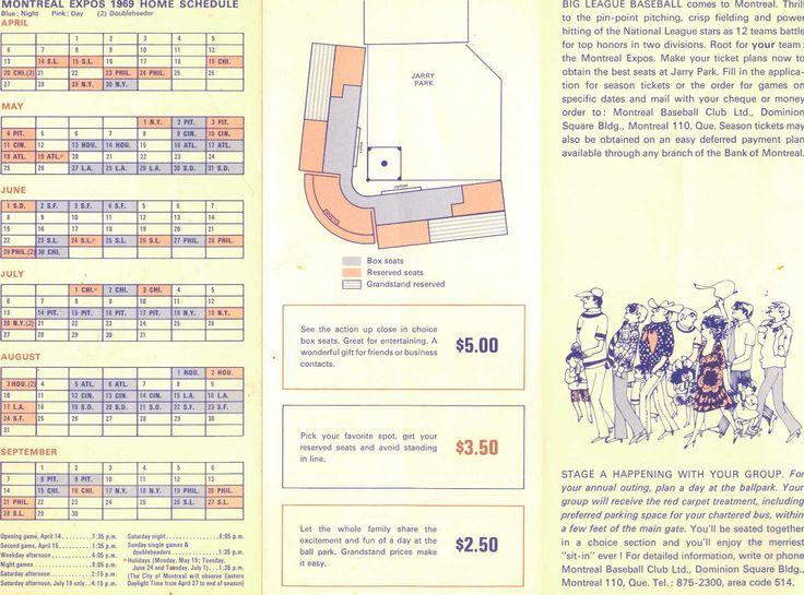 1969 Schedule